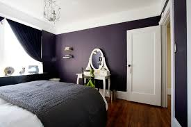 For an accent wall in our bedroom. Love the drama of this dark purple room  and how it contrasts with the white.