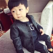toddler leather jacket 2016 spring baby boy pu leather jacket solid toddler boy motorcycle jacket child