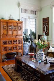 Living Room Cupboard Furniture Design Oriental Interior Design Pendant Lightings Red Sofa Furniture Dark