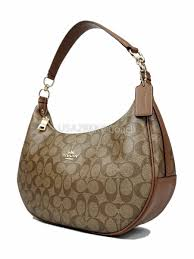จำหน่ายกระเป๋า Coach Signature Harley East West Hobo  ShoulderBag(Khaki Saddle) F38267 by usa2bkk - YouTube