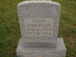 Eliza Jackson Roberson (1860-1894) - Find A Grave Memorial
