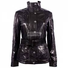 new look women soft black leather jacket