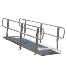 prairie view industries 6 ft x 36 in aluminum solid entryway wheelchair ramp