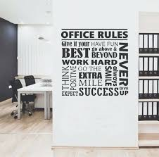 wall art for office. Wall Arts: Office Rules Collage Quote Lettering Vinyl Decals Motivational Art For T