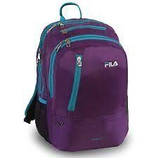 fila fanny pack. fila women\u0027s duel tablet and laptop school backpack, purple/teal, one size fanny pack o