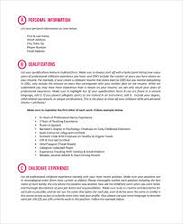 Resume Template Free 7 Nanny Resume Templates Sample Templates 15300