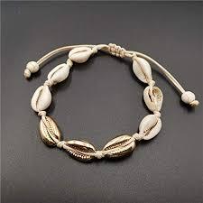 Buy <b>Bohemian</b> Style <b>Cowrie</b> Beads <b>Shell</b> Adjustable <b>Anklet</b> ...