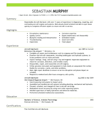 Resume Avionics Technician Resume Sample Aviation Example