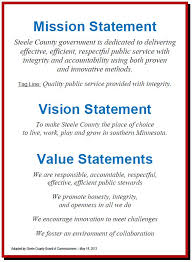my vision statement sample write a mission statement that reflects three personal values