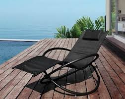 unique black outdoor folding rocking chair