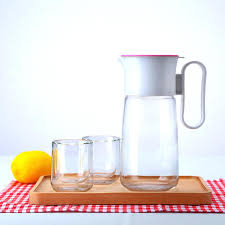 glass juice pitchers glass pitcher with lid hot cold water carafe juice jar and iced tea glass juice pitchers