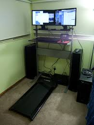 my final treadmill desk setup