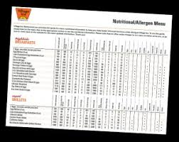 Dairy Queen Menu Calories Chart Allergen Nutrition Information Village Inn