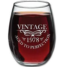 1978 40th birthday gifts for women and men wine gl funny vine anniversary gift ideas