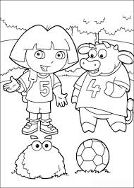 Dora And Benny Coloring Page Free Printable Coloring Pages