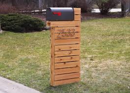 modern mailbox natural cedar