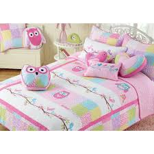 Owl Bedroom Pink Owl Cotton 3 Piece Quilt Set Owl Bedding Kid Quilts And Kid