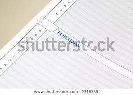 Close Daily Planning Schedule Sheet Showing Stock Photo Edit Now