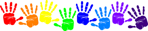 Image result for handprints clipart border