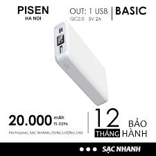 Pin sạc dự phòng Pisen 20000mAh TS-D268 Chính Hãng Cho iPhone Huawei  Samsung Xiaomi Oppo Vivo giảm tiếp 479,000đ
