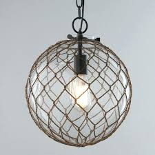 nautical rope chandelier clear glass globe nautical rope chandelier with 1 light for rustic kitchen lighting