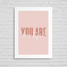 Amazoncom Motivational Quote Wall Decor Art Print Poster You Are