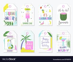 Summer Gift Tags Bright Summer Gift Tags And Labels