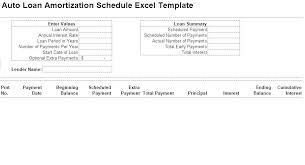 Car Loan Amortization Schedule In Excel Simple Loan Amortization Schedule Excel Spreadsheet Mortgage