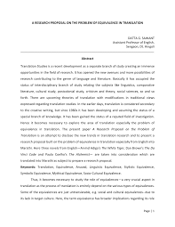 Research Proposal A RESEARCH PROPOSAL ON THE PROBLEM OF PDF Download Available 1