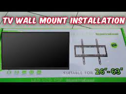 how to install led lcd pdp tv wall