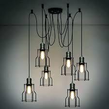 en wire chandelier diy wire a chandelier 6 head industrial wire cage chandelier pendant lights en