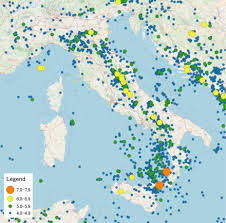 List Of Earthquakes In Italy Wikipedia