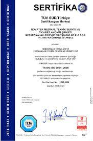 Sertifikalar Novatek Medikal Teknik Servis Tic A S