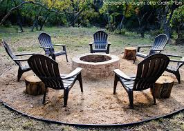 diy patio with fire pit. How To Build A Firepit For Your Outdoor Space Scattered Thoughts House Building Patio Fire Pit Diy With