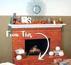 update brick fireplace brick fireplace before repainting update brick fireplace with tile update brick fireplace