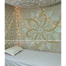 popular handicrafts kp649 large moon ombre gold tapestry indian mandala wall art hippie wall hanging bohemian on large white and gold wall art with amazon popular handicrafts kp649 large moon ombre gold tapestry