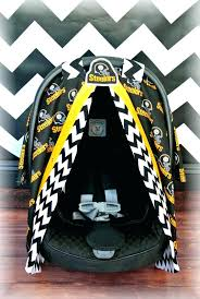 steeler seat covers car canopy cover chevron football polka dot boy damask infant girl baby pittsburgh steeler seat covers canopy baby