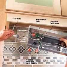 Replace Under Cabinet Lighting How To Install Under Cabinet Lighting In Your Kitchen