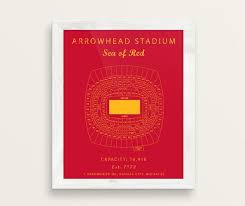 Kansas City Chiefs Arrowhead Seating Chart Arrowhead Stadium Seating Chart Kansas City Chiefs Arrowhead Stadium Print Arrowhead Stadium Sign Gift For Chiefs Fan Vintage Art