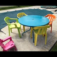 monty s average life painting plastic and glass patio furniture