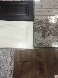 Antico Bianco Granite Kitchen Bright White Wall Cabinets Espresso Island Birch Suede Flooring