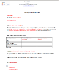 appraisal letter salary appraisal letter download template