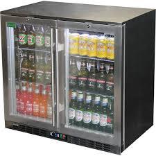 unprecedented bar fridge glass door rhino s steel glass door commercial bar fridge stainless