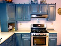 blue kitchen cabinets spray painting pictures ideas from wonderful