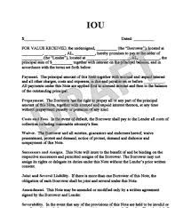 Free Printable Iou Forms Legal Iou Letter Instantly Create Your Resume