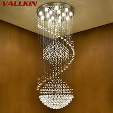 long large modern chandeliers luxury modern chandelier large big stair long spiral crystal chandeliers led