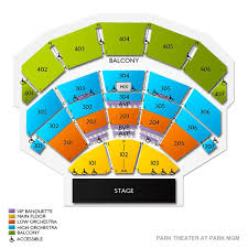 Park Theater At Park Mgm 2019 Seating Chart