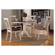 unusual inspiration ideas international concepts dining table 5 piece set 36 round extension wood antiqued almond