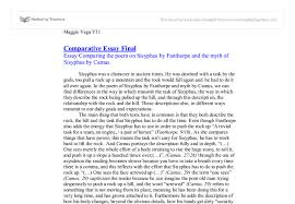 comparative essay myth and poem of sisyphus international document image preview