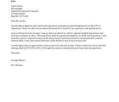 Cover Letter Computer Science Internship Examples No Experience